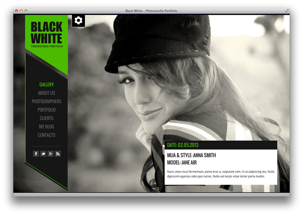 black & white wordpres theme