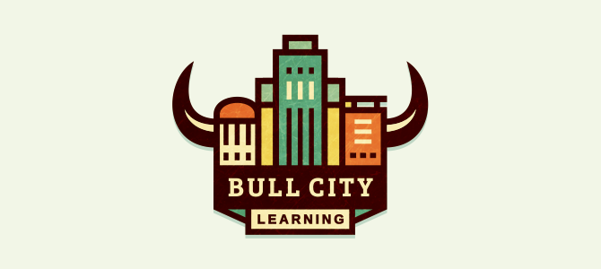 Flat Logo Design – Bull City Learning