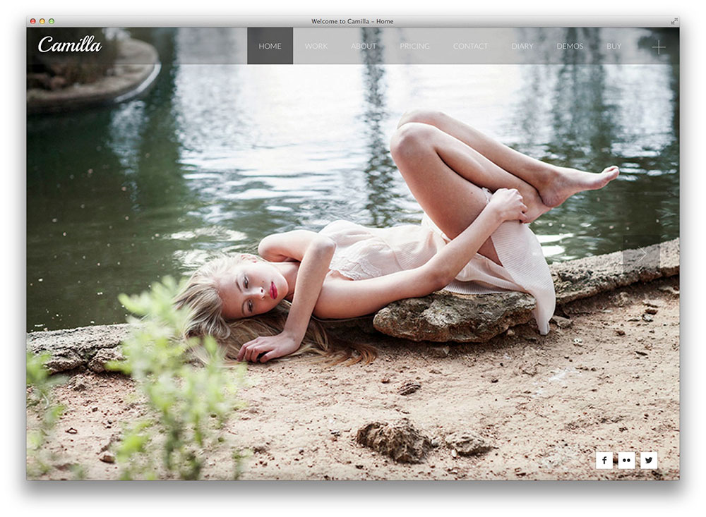camilla-horizontal-fullscreen photography theme