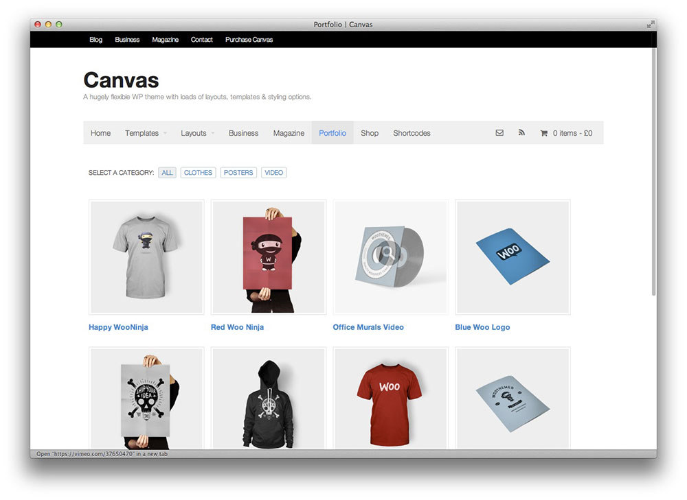 Canvas WooCommerce