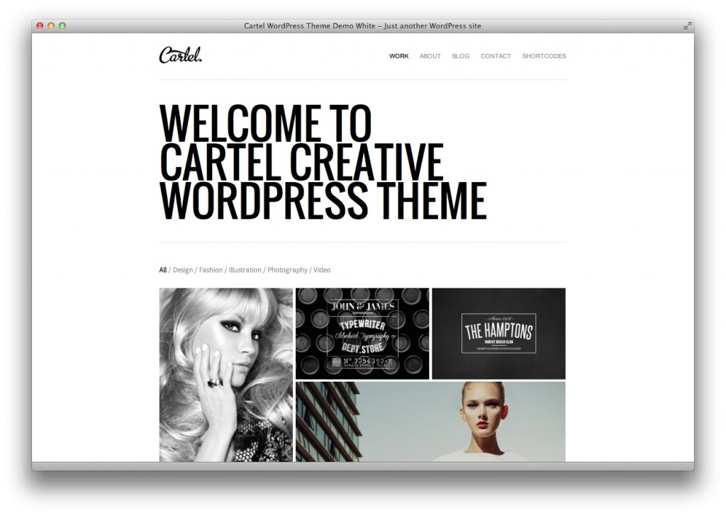 Cartel WordPress portfolio theme