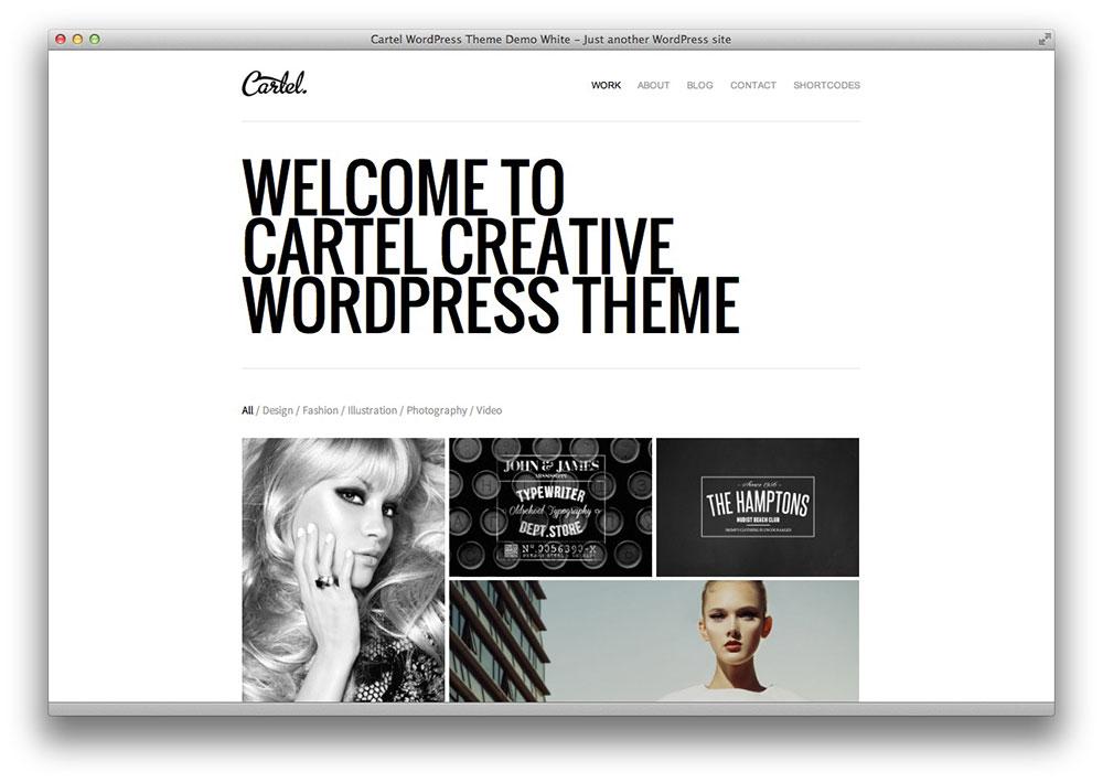 Cartel WordPress portfolio theme