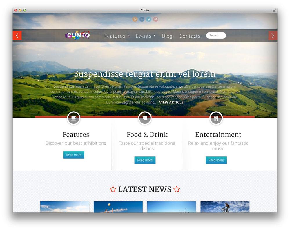 Clinto - WordPress event theme