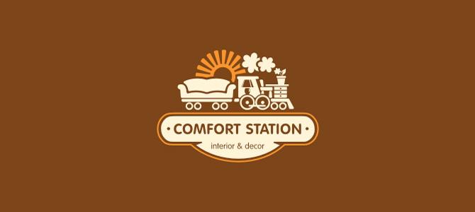 Merveilleux Comfort Station Flat Logo