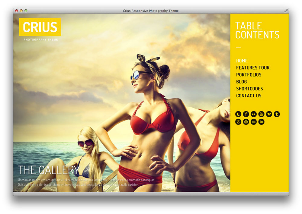 Crius WordPress Portfolio theme