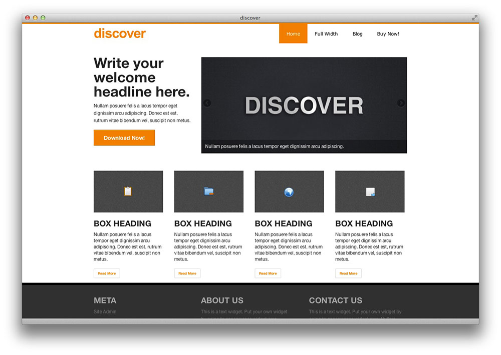 discover wordpress theme