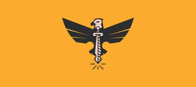 Eagle Sword Flat logo