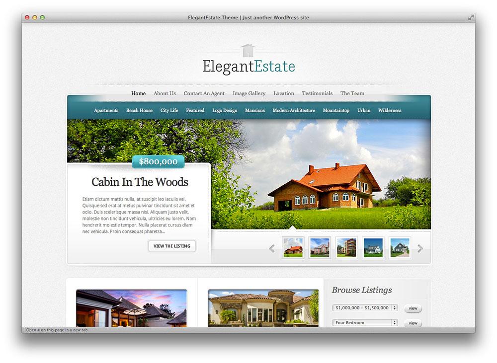 elegantestate wordpress theme