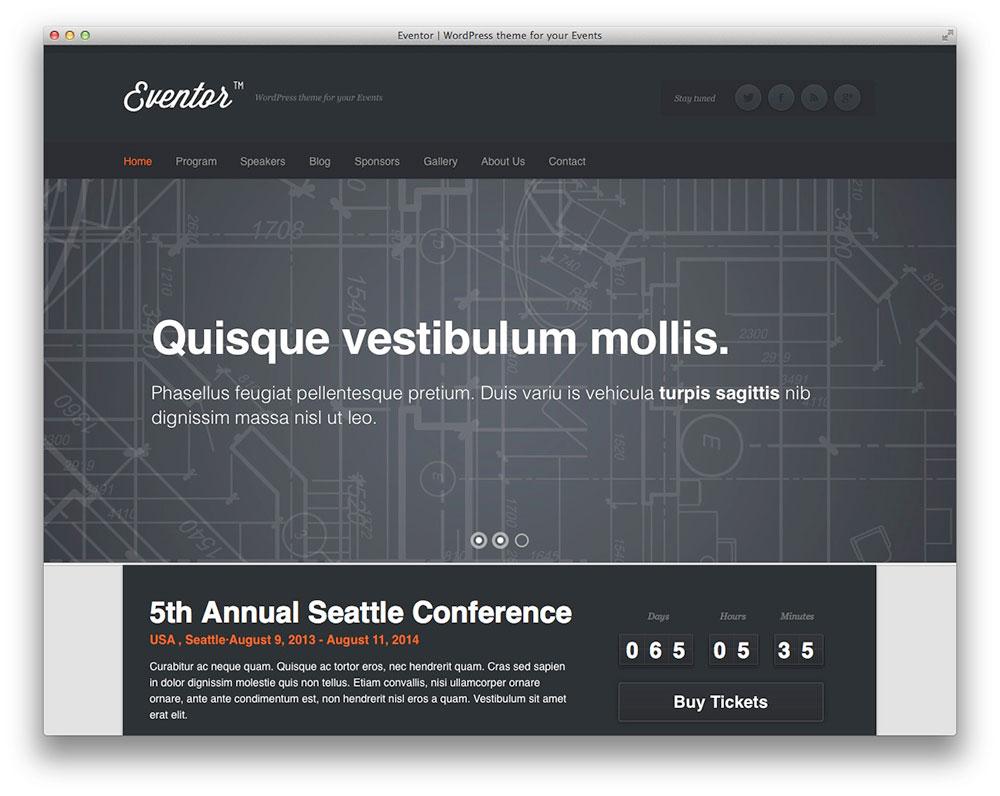 Eventor - WordPress even theme