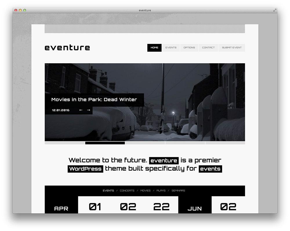 Eventure - Even WordPress theme