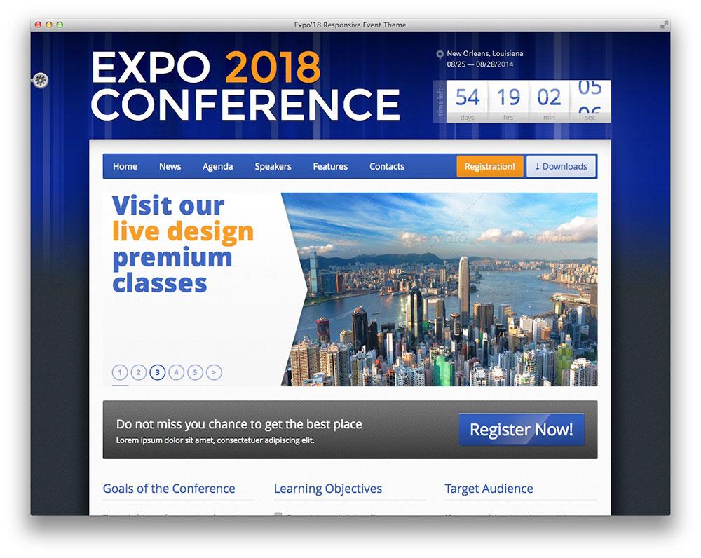 Expo18 - Even WordPress theme