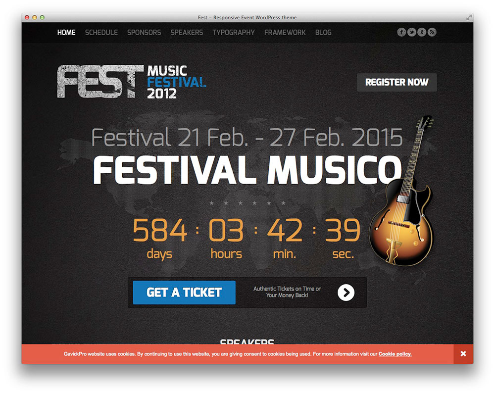 Fest - WordPress festival theme
