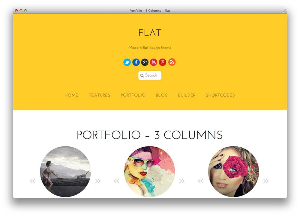 WordPress Tema Portfólio - Plano