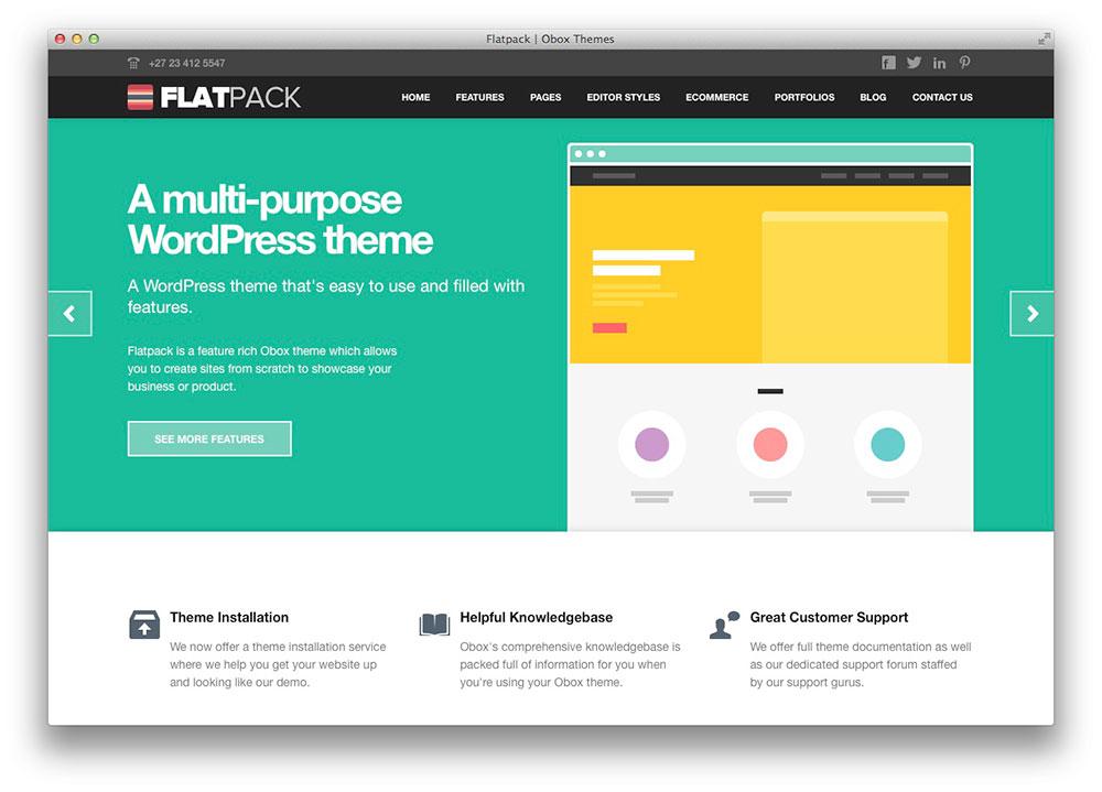 FlatPac - Tema WordPress Plano