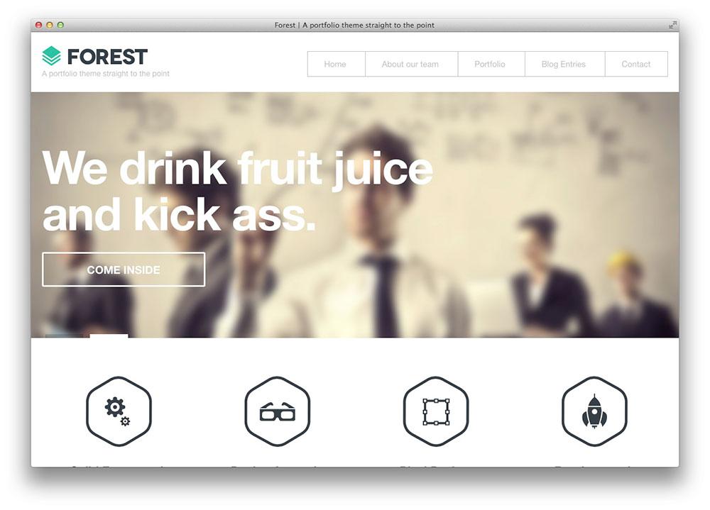 Floresta WordPress plana Portfólio Tema