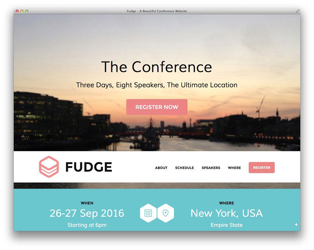 Fudge - WordPress conference theme