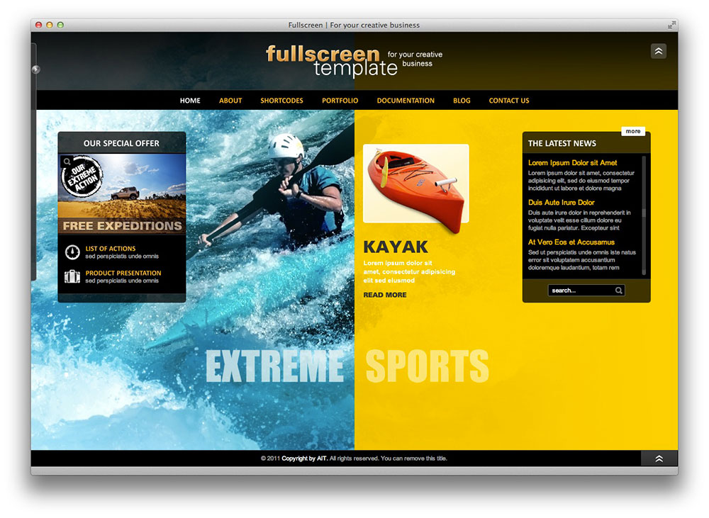 Fullscreen - Business & Portfolio WordPress Theme