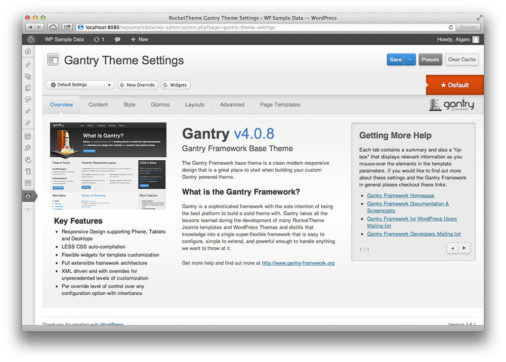 Gentry Theme Framework Preview