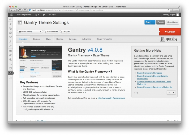 Gentry – Web Platform Theme Framework
