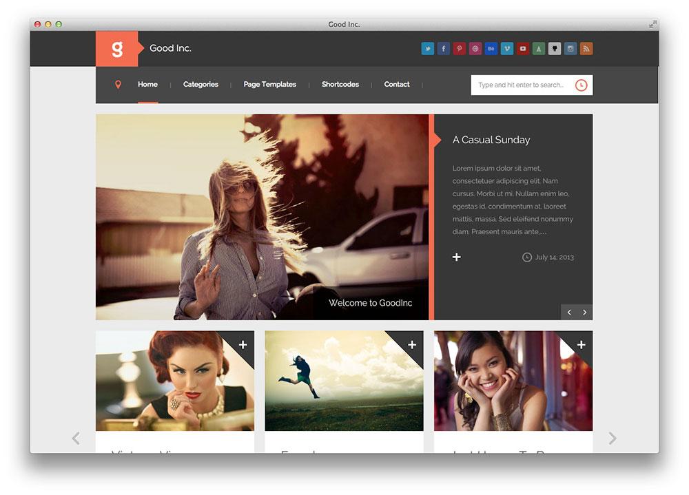 GoodInc - Plano blog WordPress e Tema revista