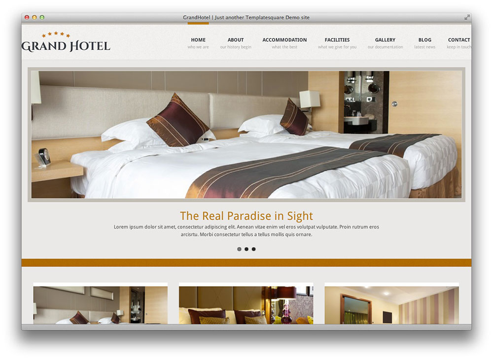 Grand Hotel - Resorts Business WordPress Theme