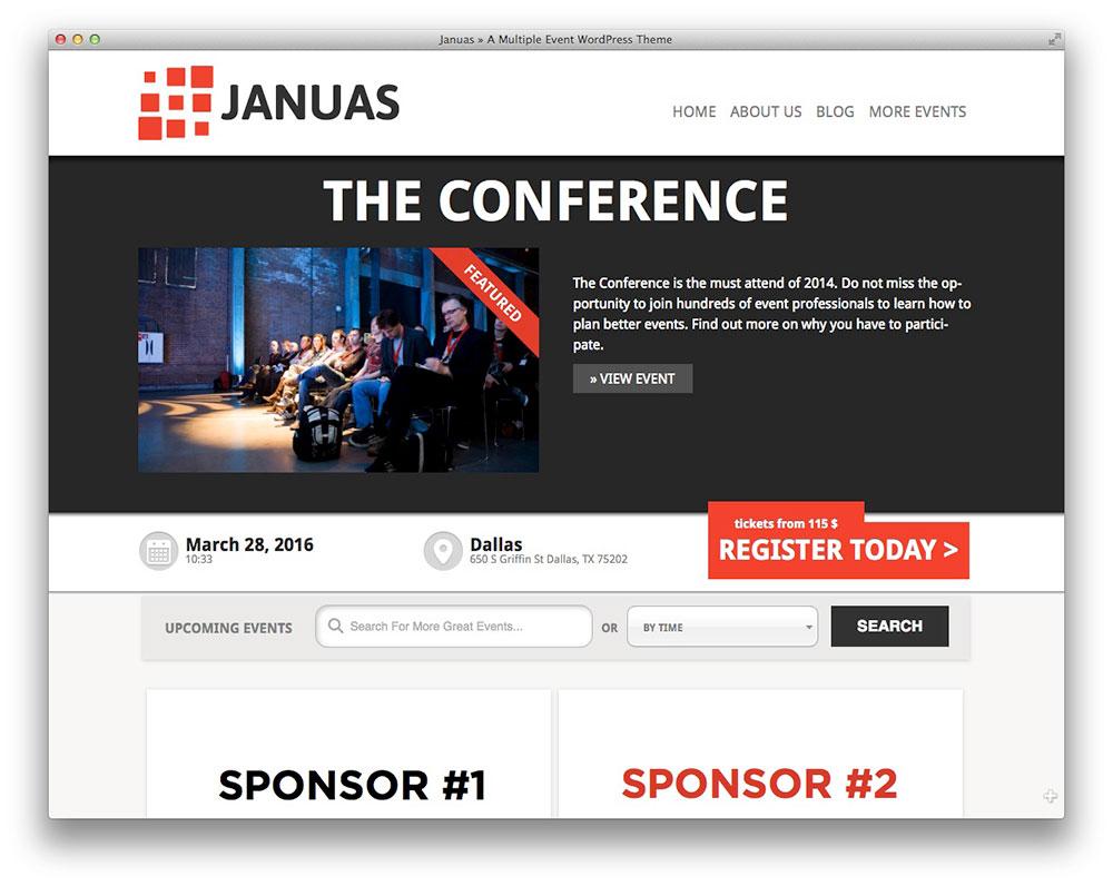 Januas - event management heme