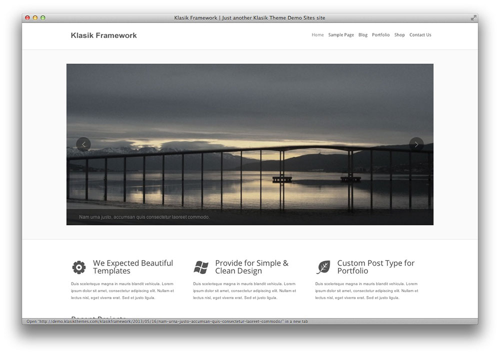 klasik wordpress theme framework