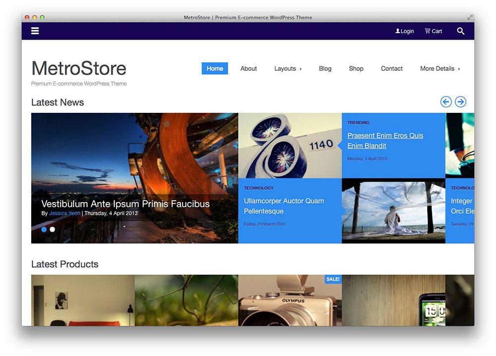 MetroStore - eCommerce Plano Tema WordPress