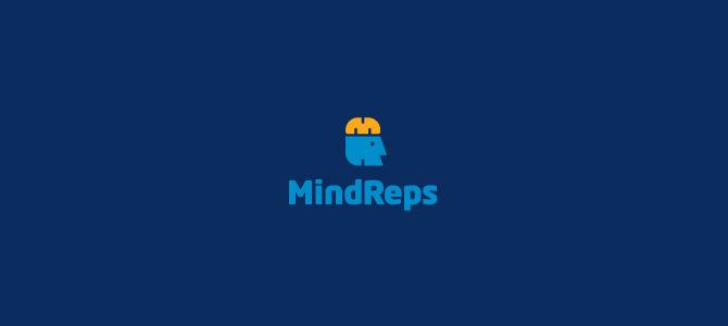 MindReps Flat Logo Design