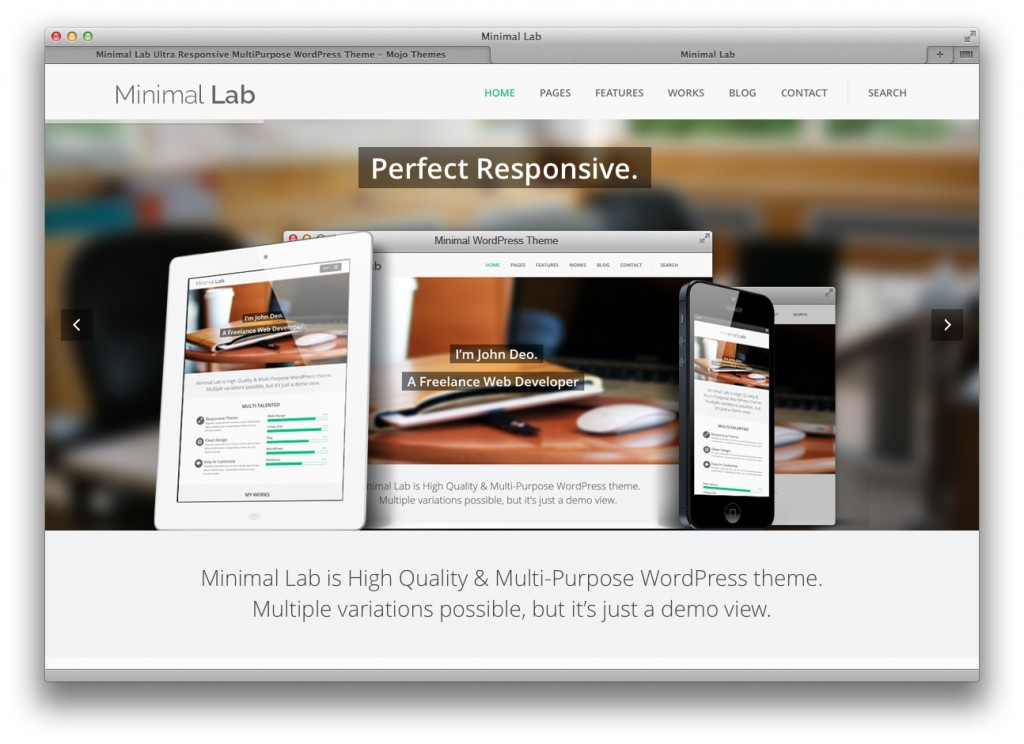 Minimal Lab Multi-purpose WordPress theme