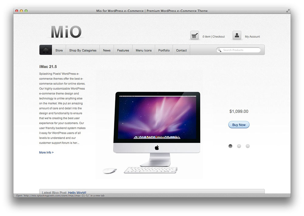 Mio WordPress ecommerce theme
