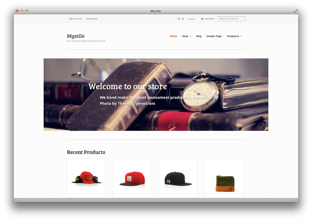 mystile WordPress theme by woothemes