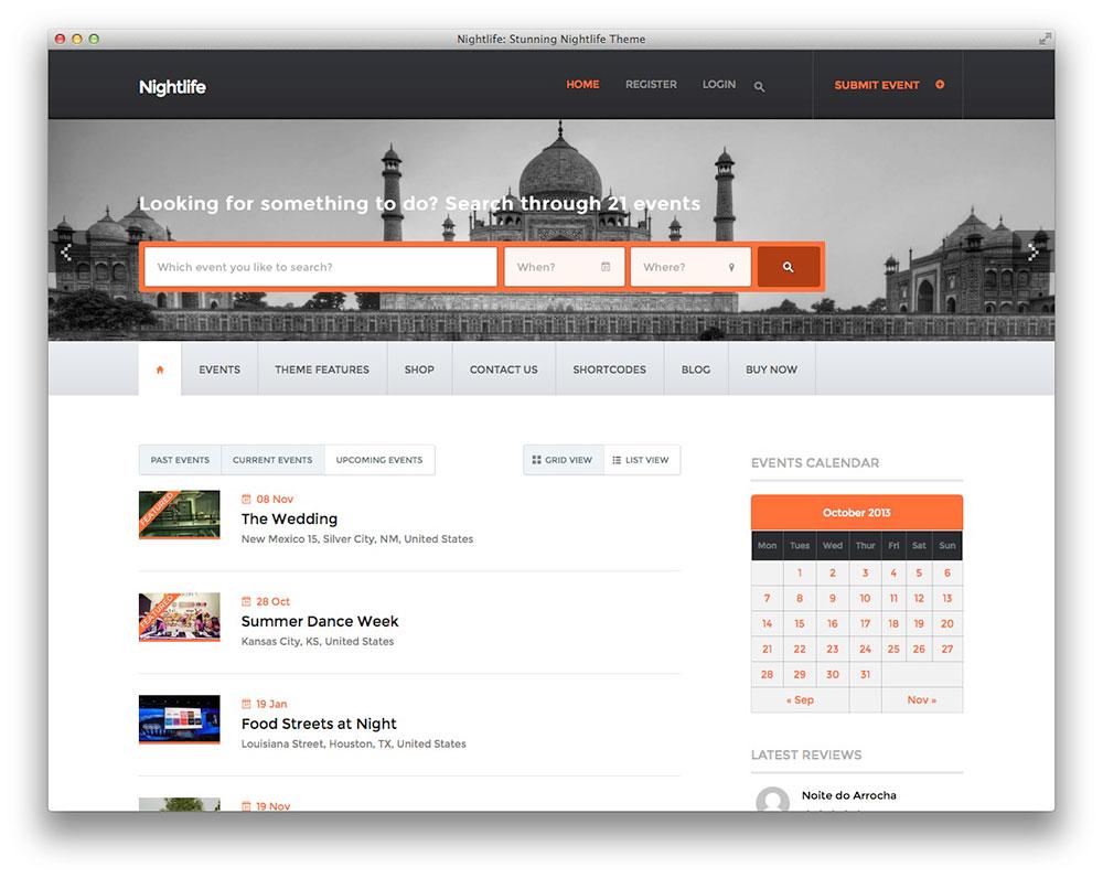 Nightlife - WordPress event theme