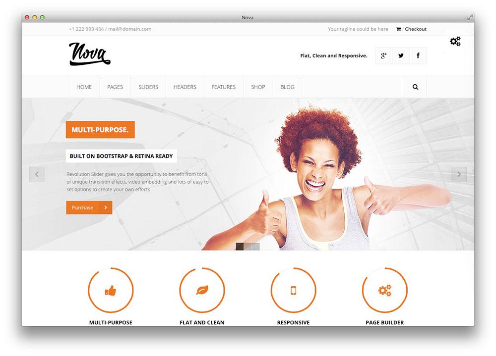 Nova Plano Tema WordPress