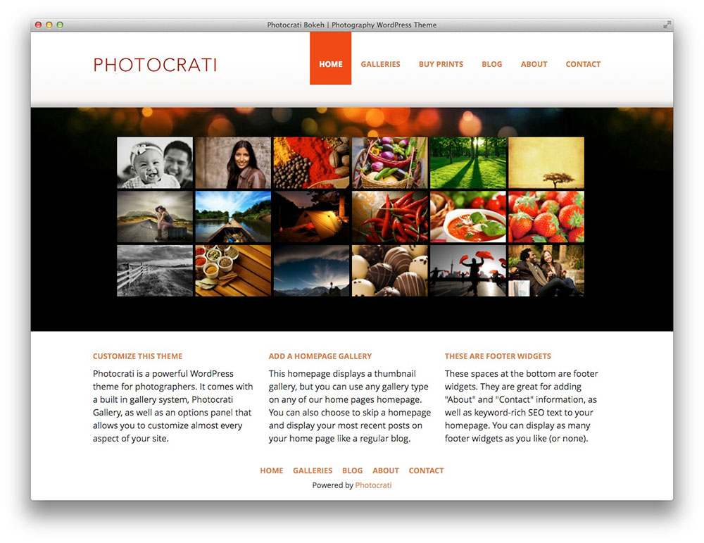 Photocrati - WordPress photography theme