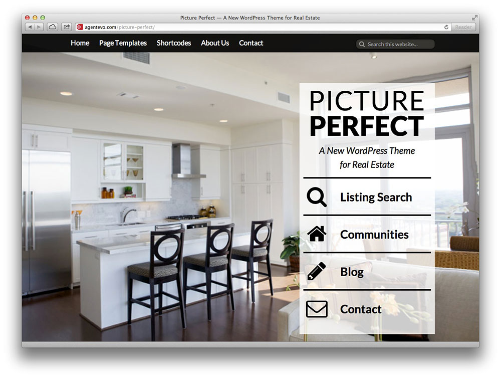 picture perfect  wordpress theme
