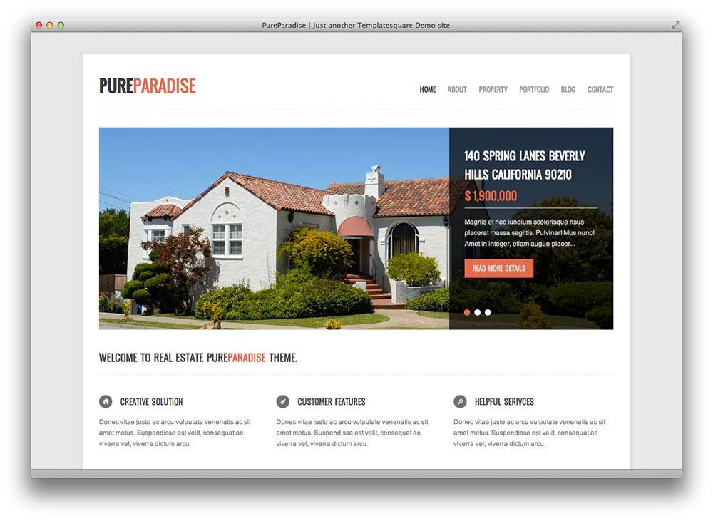 Pure Paradise - Clean WordPress Theme