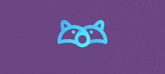 Racoon Icon Flat Logo