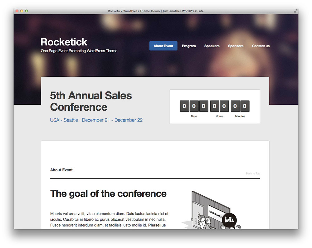 Rocketick - WordPress even theme