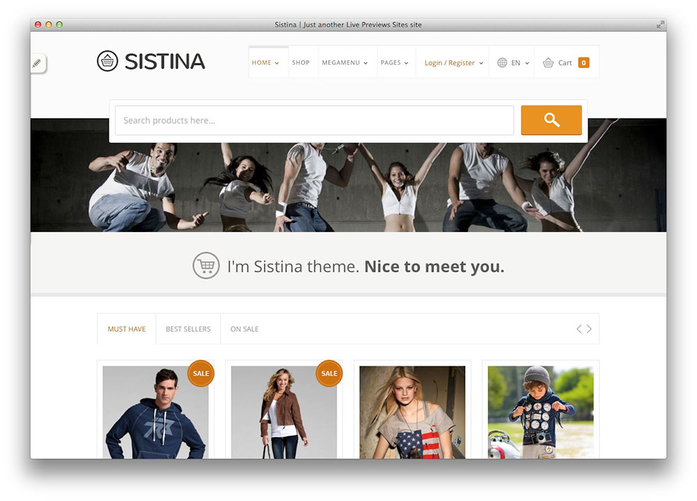 Sistina - TEMA Plano WooCommerce WordPress