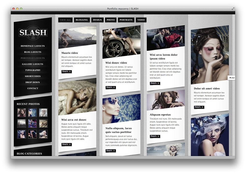 slash wordpress theme