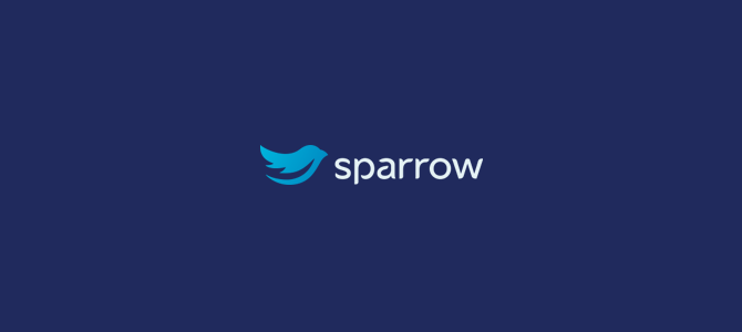 Sparrow flat logo design