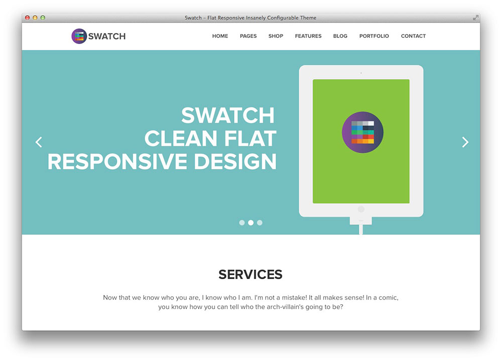 Swatch Tema WordPress