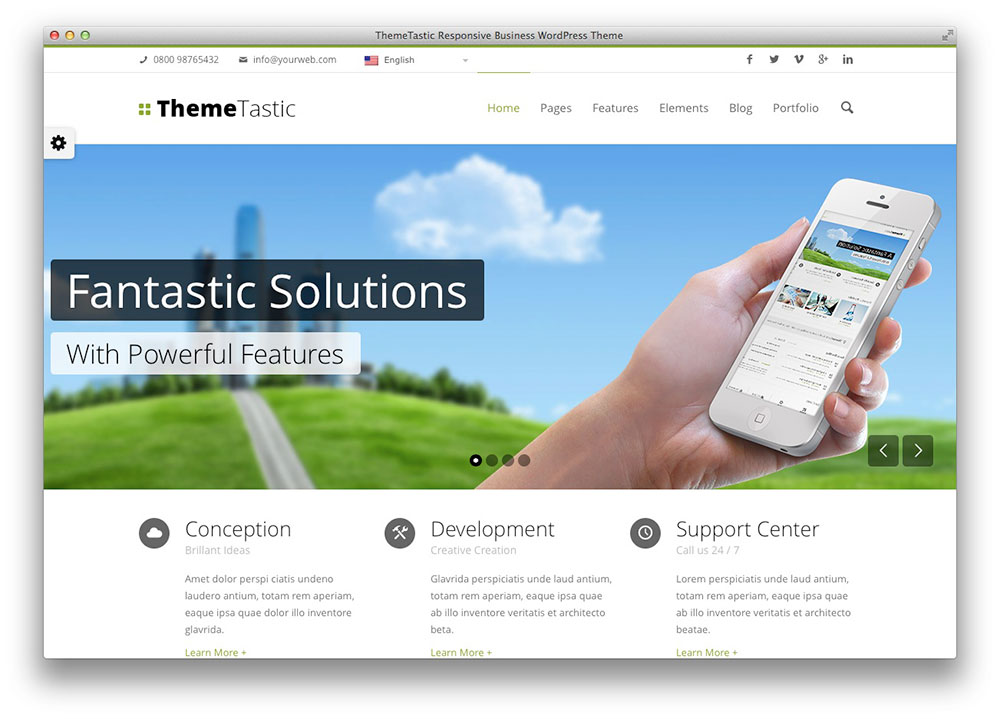 Tema themetastic Plano WordPress