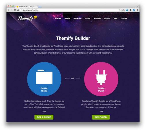 Themify Theme Builder Preview