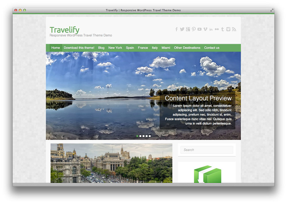 Travelify WooCommerce WordPress theme