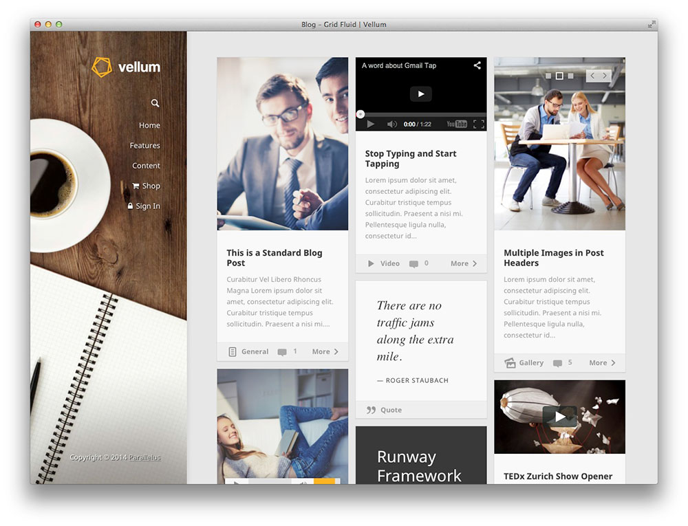 Vellum - Multipurpose theme