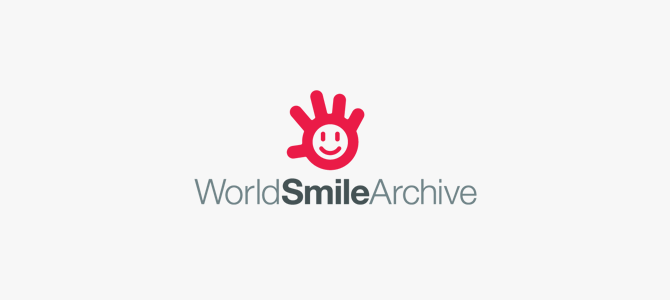 WorldSmileArchive Flat Logo Design