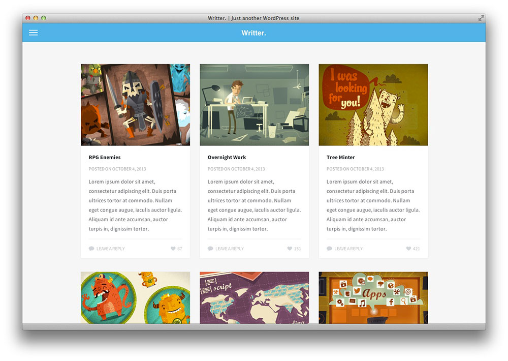 Writter WordPress portfolio theme