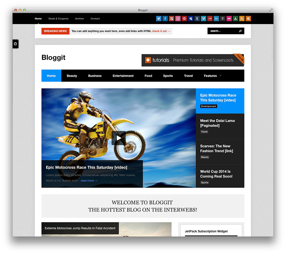 Bloggit WordPress theme